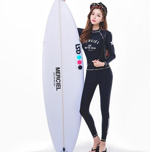 水母衣 潛水服 韓國新款時尚長袖瑜伽服 潛水溫泉游泳衣泳裝