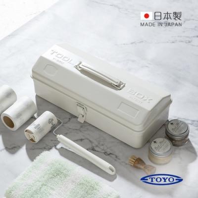 日本TOYO Y-350 日製山型提把式鋼製單層工具箱 (36公分/收納箱/手提箱)