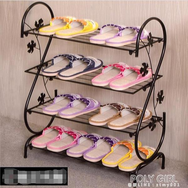 北歐鞋架簡易門口家用經濟型鐵藝簡約宿舍收納置物架多層小型鞋架 ATF 夏季新品