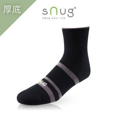 sNug  動能氣墊運動襪 線條黑灰色  超耐磨吸汗除臭襪   (下單9雙原價8折) 羽嵐服飾