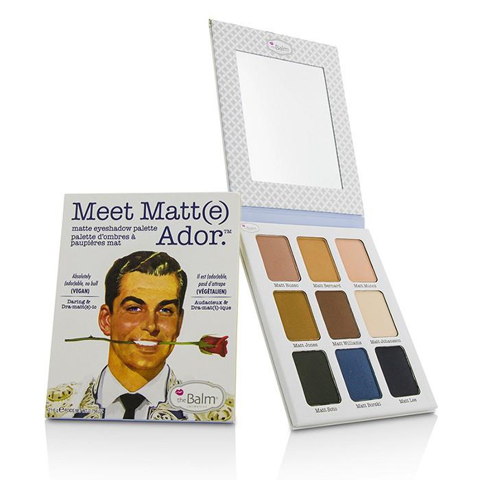 THEBALM - 霧先生9色暖色系眼影盤 Meet Matt(e) Ador Matte Eyeshadow Pale