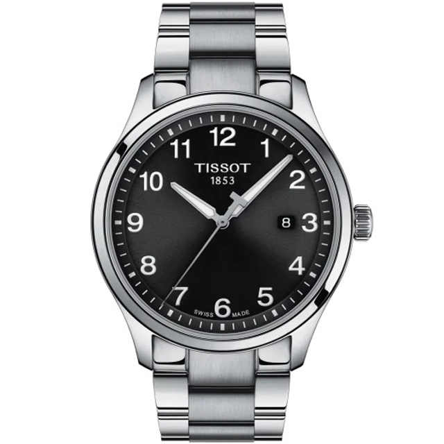 TISSOT 天梭 GENT XL CLASSIC 經典紳士腕錶/黑/42mm/T1164101105700