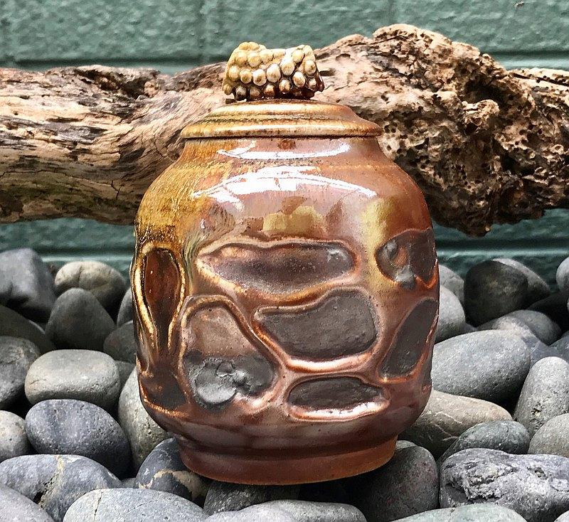柴燒藝術古典造型陶罐 柴燒茶葉罐 陶罐 置物罐 擺飾