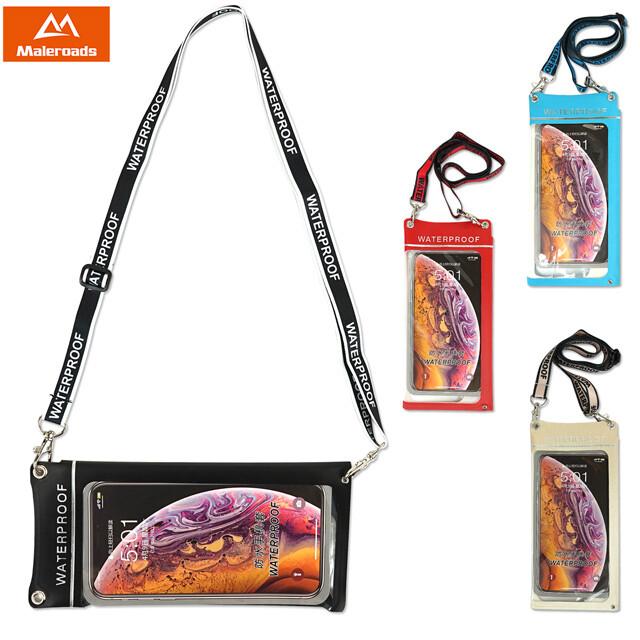 潮流新型加大設計款!! maleroads 手機防水袋 適用6.6吋全螢幕手機 掛繩橫向直向輕鬆轉換