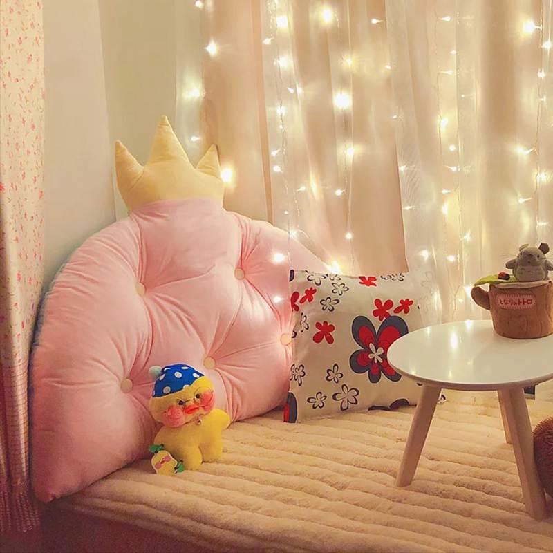 特賣床靠墊韓式皇冠公主大靠背 寶寶床靠墊兒童床頭軟包靠枕可拆洗可愛禮物