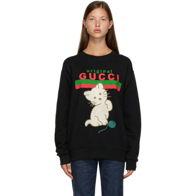 "Gucci 黑色""Original Gucci"" Cat 套头衫"
