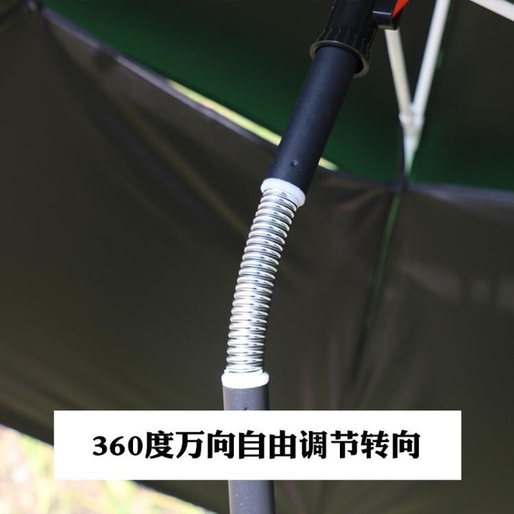 戶外擋雨遮陽黑膠釣魚傘加固扣架萬向轉向鋁合金垂釣魚傘