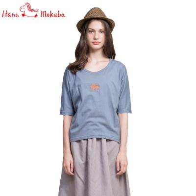 Hana-Mokuba-花木馬日系女裝針織T袖衫_藍