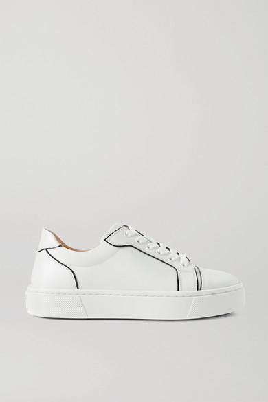 Christian Louboutin - Vieirissima 双色皮革运动鞋 - 白色 - IT36.5