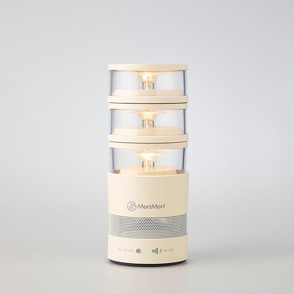 【時尚生活】《MoriMori》LASMO Speaker 多功能LED燈 小夜 氣氛燈 照明燈 分離式 藍芽音響 露營