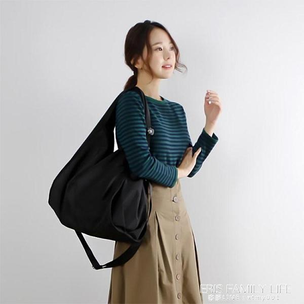 慵懶風大包新款休閒百搭牛津布大容量女包文藝范帆布包側背斜背包 艾瑞斯