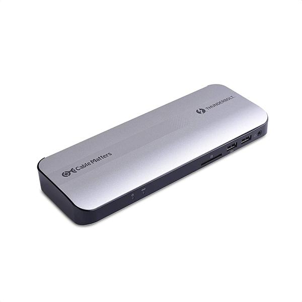 [9美國直購] Certified Cable Matters Aluminum 擴展塢 Thunderbolt 3 Dock with HDMI 2.0 and 60W Laptop Chargin