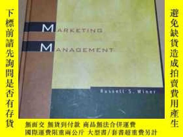 二手書博民逛書店英文原版:Marketing罕見Management (精裝,第三版)Y1627 by Russ Winer
