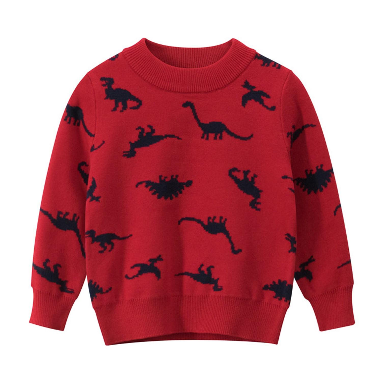 恐龍毛衣-紅色