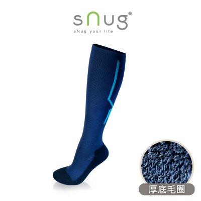 sNug 3D動能舒壓膝下襪  藍色厚款   除臭襪 小腿襪 棒球襪  保暖 (下單9雙原價8折)羽嵐服飾