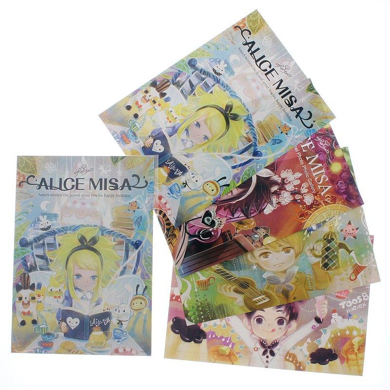 【心夢明信片】繪本風款明信片-愛米莎 黑米莎 兔司比 杰星克