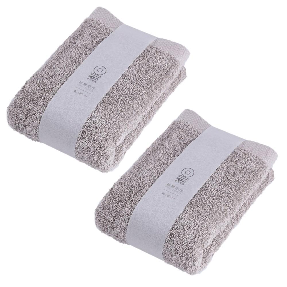 土耳其純棉毛巾棕40x80cm(兩入組)