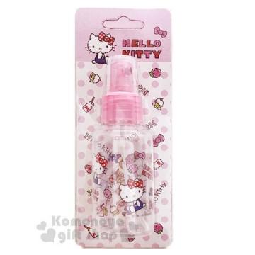 〔小禮堂﹞Hello Kitty 噴霧式空瓶《粉.75ml.空罐.分裝瓶罐》