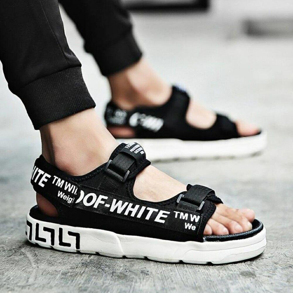 涼鞋 拖鞋韓版潮流2020新款夏季涼拖鞋室外防滑百搭沙灘男涼鞋外穿夏天