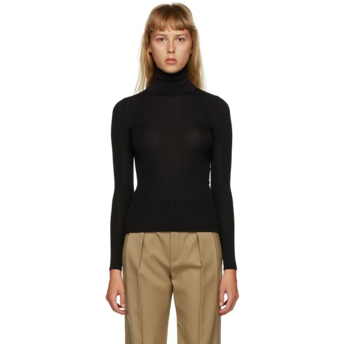 Saint Laurent 黑色高领毛衣