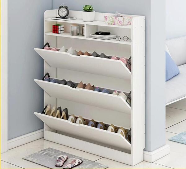 簡易門口家用鞋櫃宿舍經濟型多層收納小鞋架子省空間防塵儲物櫃『向日葵生活館』