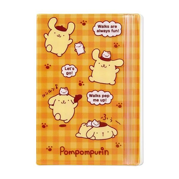 小禮堂 布丁狗 B6手帳專用夾鏈袋 日誌夾鏈袋 文具袋 筆袋 (黃 格紋) 4550337-57690