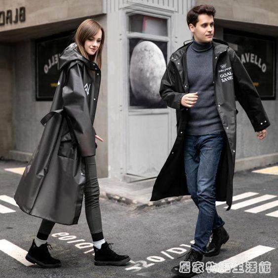 男女士雨衣新款韓版潮流大衣男女春秋過膝風衣男中長款學生潮