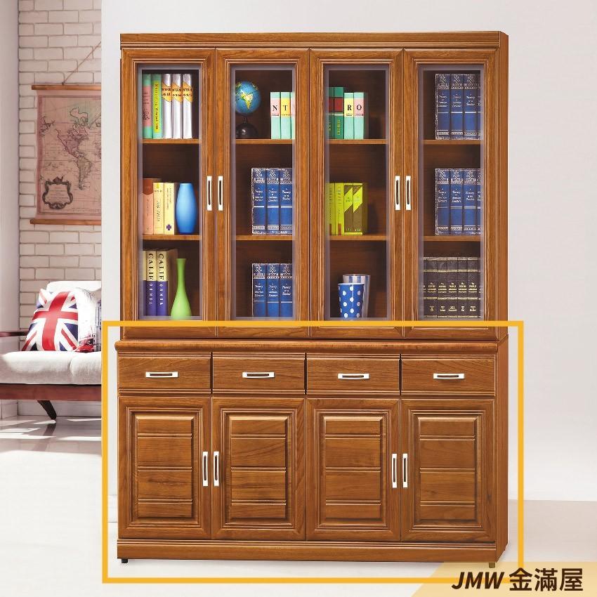 160cm書房書櫃書架 櫥櫃 層架收納整理金滿屋北歐工業 置物櫃 玻璃實木 g789-3 -