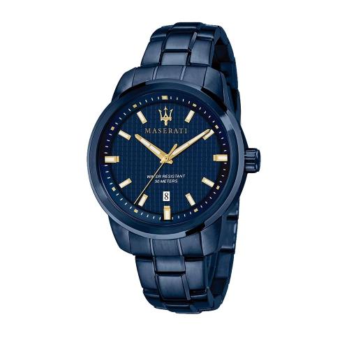 MASERATI 瑪莎拉蒂 湛藍系鋼帶三針日期腕錶42mm(R8853141002)
