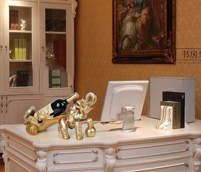 酒架 歐式大象紅酒架擺件客廳酒櫃裝飾品家居創意招財開業喬遷新居禮品 DF 優拓 DF 限時鉅惠85折