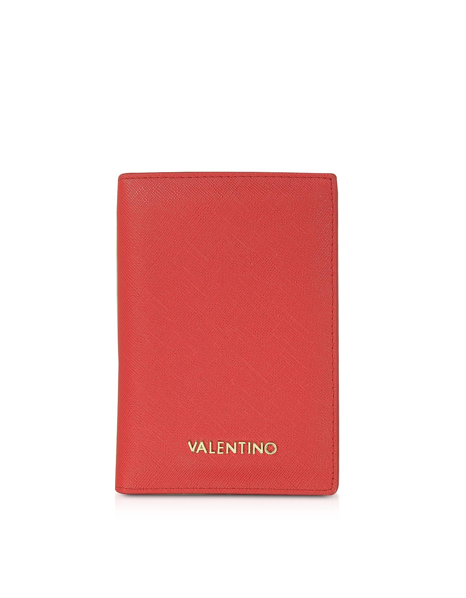 VALENTINO by Mario Valentino 钱包, Sea Saffiano Eco Leather Passport Holder