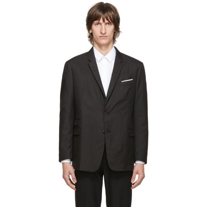 Neil Barrett 黑色 Regular Fit 修身西装外套
