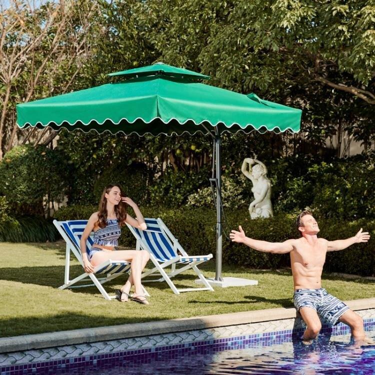[推荐好物]戶外遮陽傘戶外傘大型沙灘太陽傘擺攤傘方摺疊雨傘庭院傘室外防曬