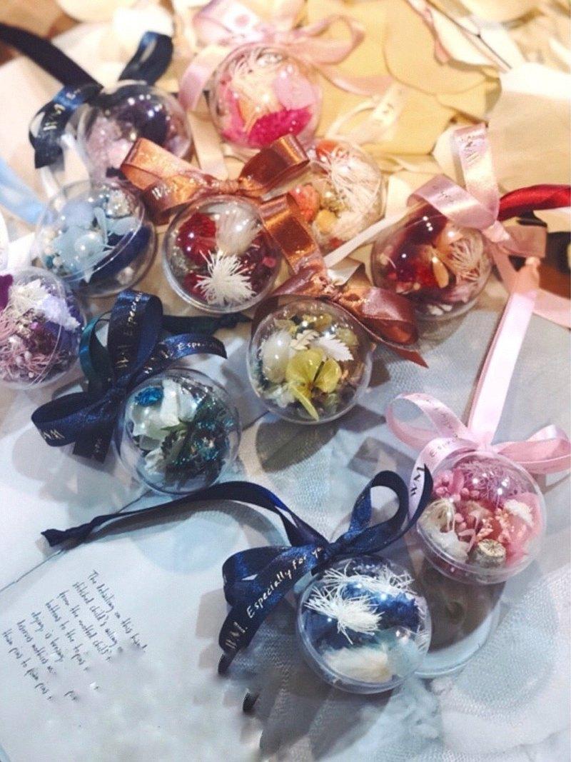 乾燥花小花球 / 買十送一 / 婚禮小物/ 壓克力花球