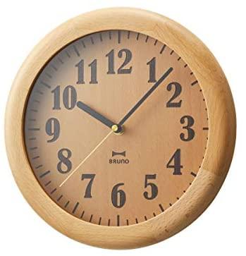 日本公司貨 BRUNO BCW039 天然木 時鐘 掛鐘 木紋 木質 木頭 木製 壁掛 簡約 北歐風 時尚 禮物  日本超人氣必買代購