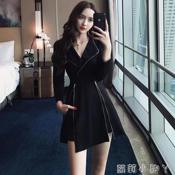 套裝女2020新款秋季法式復古氣質修身顯瘦長袖連衣裙 短褲兩件套 蘿莉新品