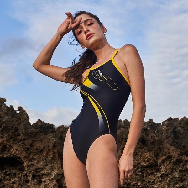 ≡MARIUM≡ MAR-20080W 大女競賽型泳裝(細肩)-BEE