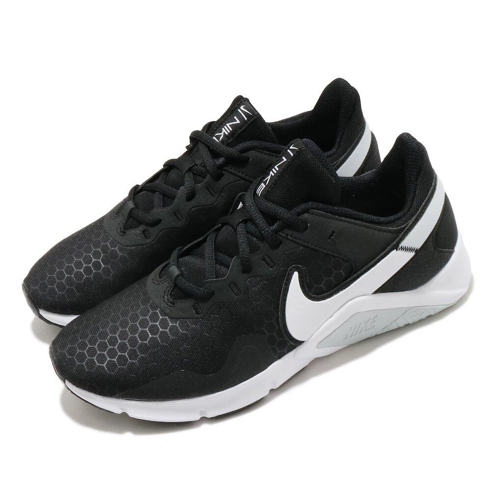 NIKE 訓練鞋 Legend Essential 2 女鞋 健身房 避震 穩定 支撐 運動 球鞋 黑 白 [CQ9545-001]