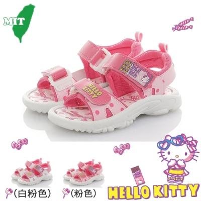 HelloKitty童鞋 輕量減壓運動休閒涼鞋-粉.白粉