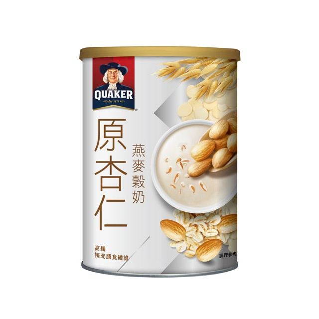 [桂格] 杏仁燕麥榖奶 (390g/罐) (奶素)