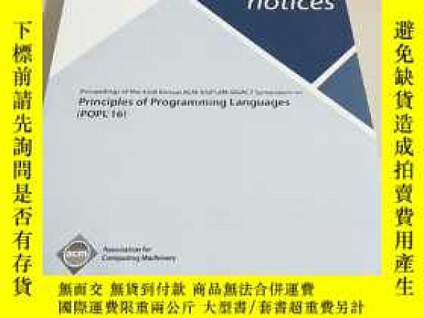 二手書博民逛書店【外文雜誌】Proceedings罕見of the 43rd Annual ACM SIGPLAN-SIGACT