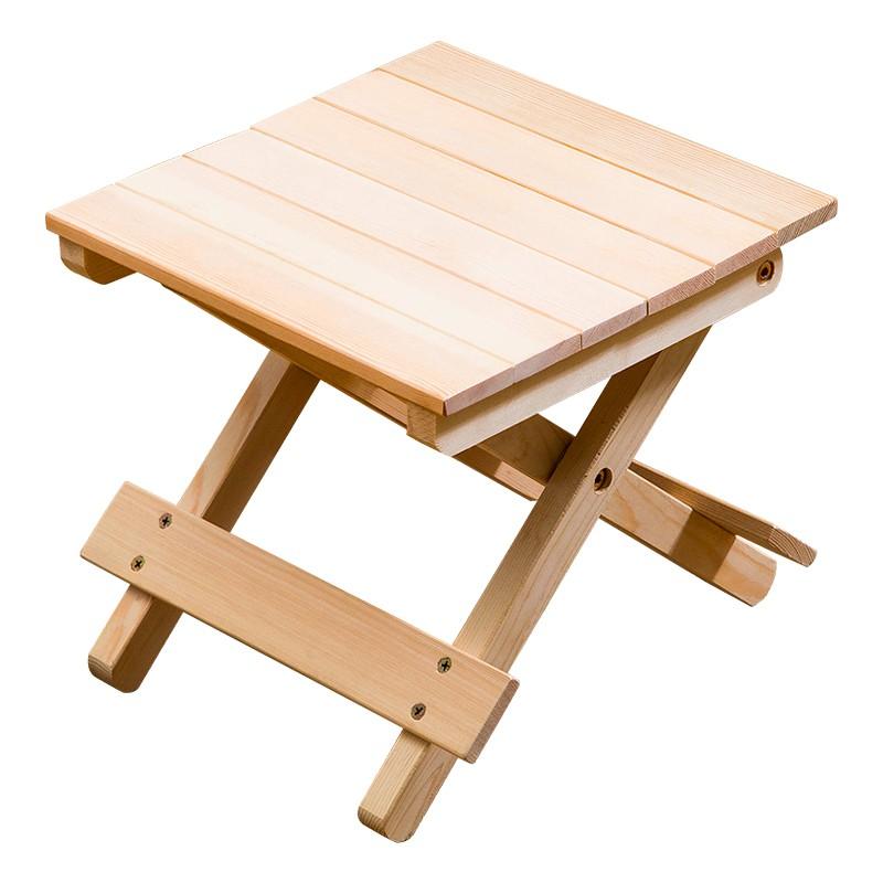 木馬人實木折疊凳子便攜式馬扎家用釣魚椅換鞋凳戶外小板凳省空間
