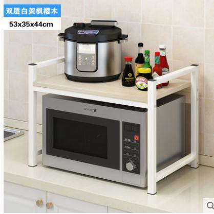 微波爐置物架耐家廚房置物架調料架收納儲物架落地烤箱桌面用品雙層微波爐架