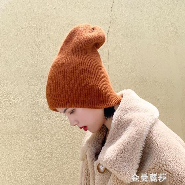 帽子女秋冬季毛線帽韓國百搭保暖針織帽韓版大頭圍日系兔毛冷帽潮 聖誕節全館免運