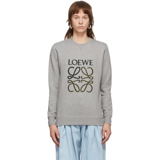 Loewe 灰色 Anagram 刺绣套头衫