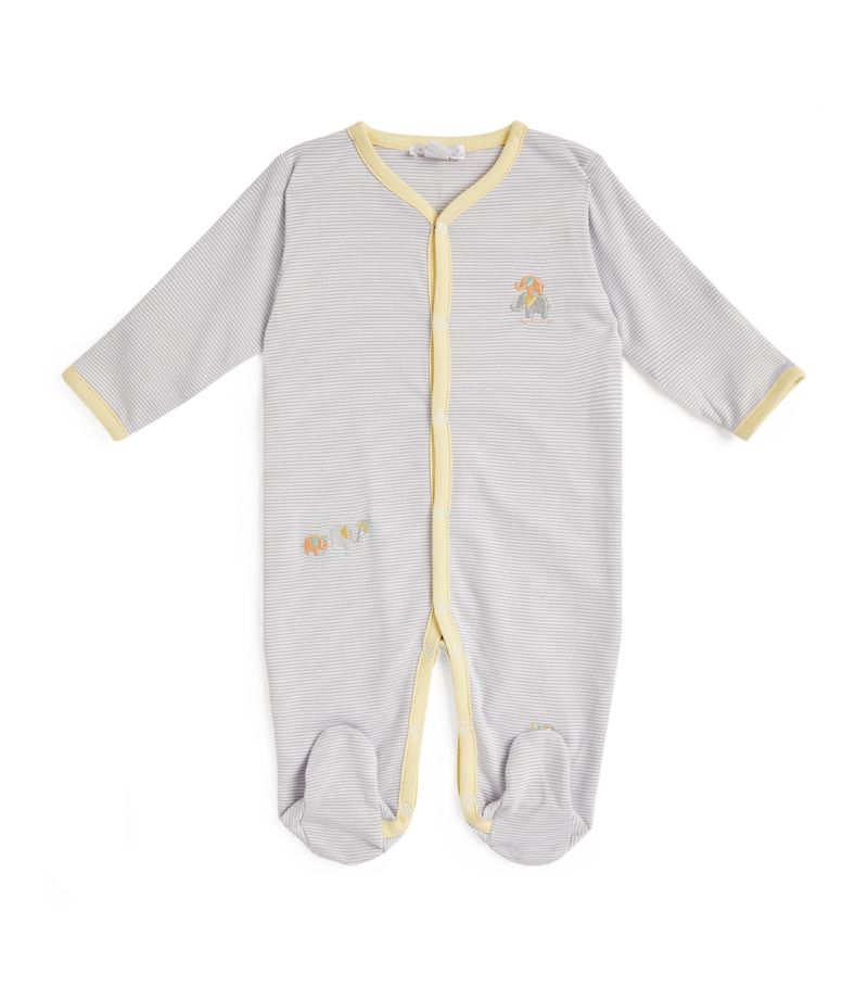 Kissy Kissy Striped Embroidered Elephant All-In-One (0-9 Months)