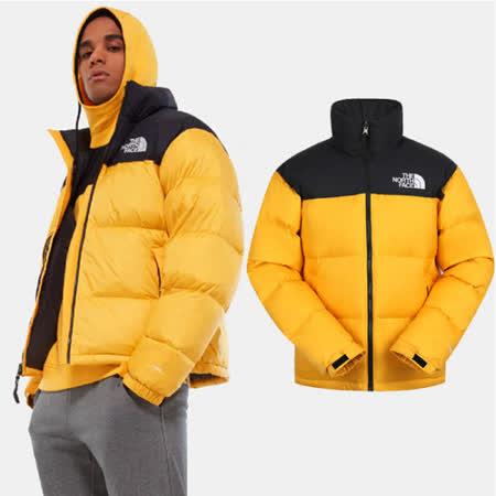 【美國 The North Face】最強保暖 ICON_經典配色透氣鵝絨外套(700FP)羽絨衣夾克/3C8D-56P 黃 N