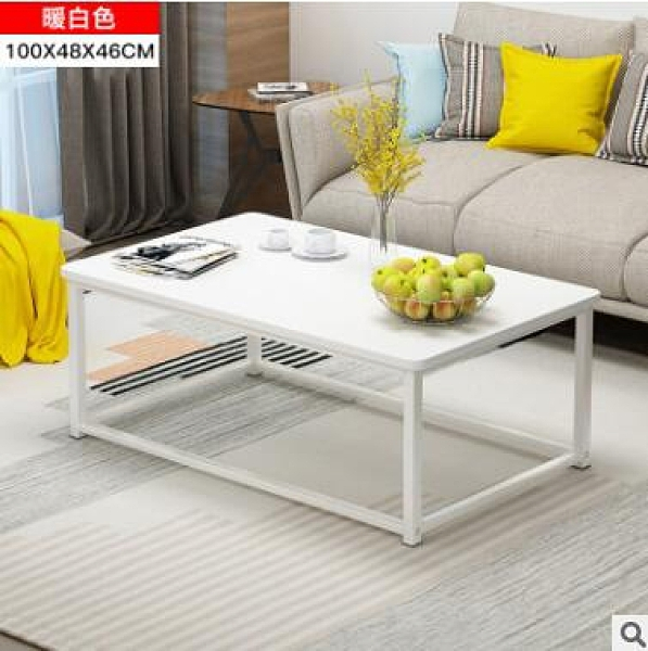 限時95折-茶几客廳小戶型茶桌簡易長方形小桌子鐵藝【100cm】