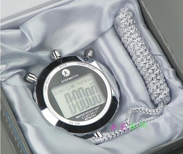 追日ps528金屬秒錶2道田徑運動錶電子跑步計時器裁判錶QM 向日葵