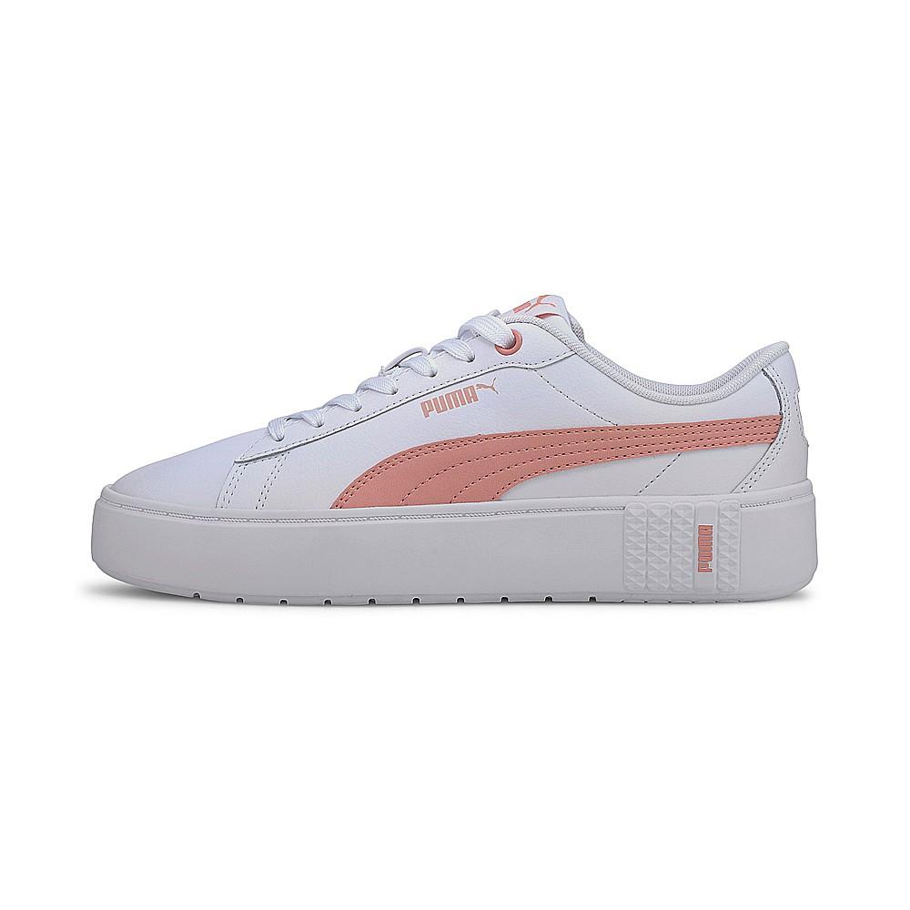 PUMA-PUMA Smash Platform v2 L 女性復古網球運動鞋-白色(37303505)